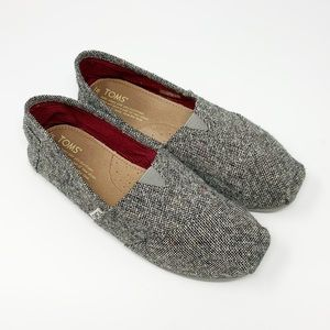 Toms | Tweed Canvas Slip On Shoes